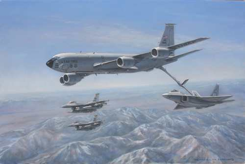KC135 Refueling Fighters