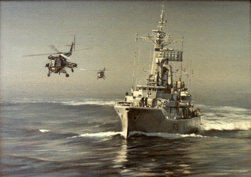 RN Frigate and Wasps