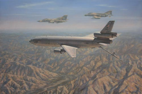 KC10 over Afghanistan