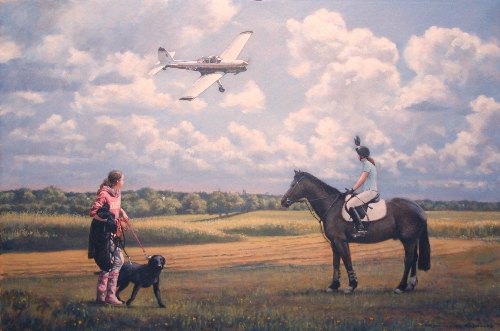 Chipmunk, Horse, Dog and Girls
