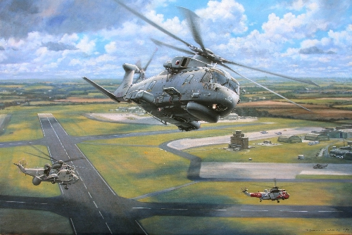 Merlin over Culdrose