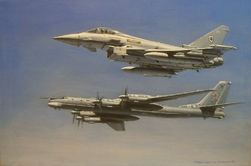 RAF Typhoon and TU95
